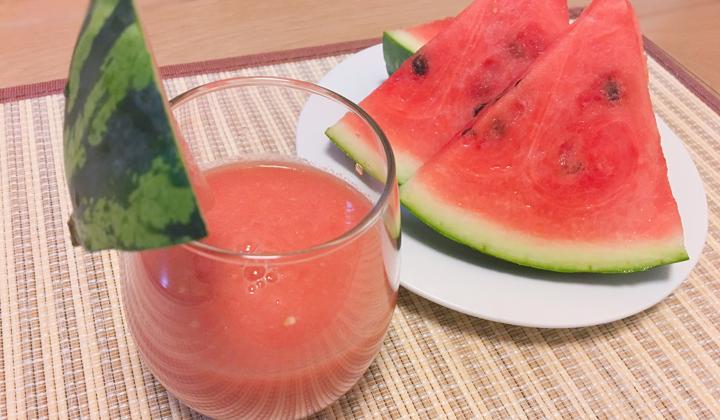 夏間近!さっぱりした甘さが魅力のスイカとトマトのレッドスムージー