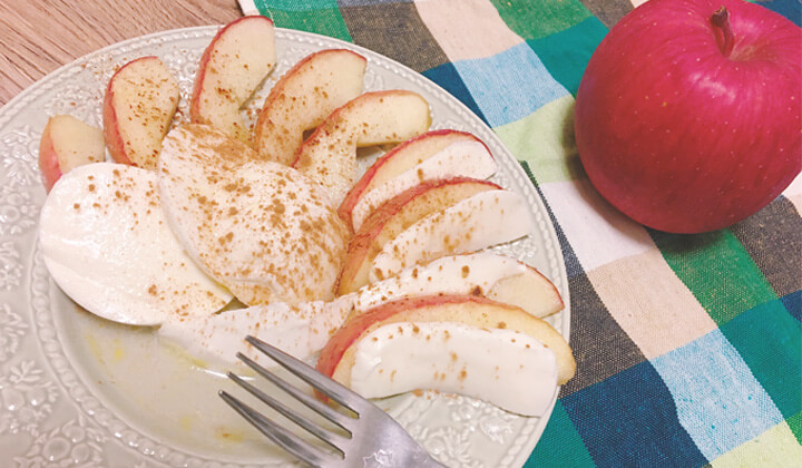 グリルで簡単!甘酸っぱい焼きリンゴとモッツァレラのカプレーゼ